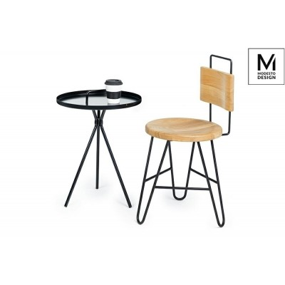 Modesto Design MODESTO stolik AMIGO czarny - metal 277.BLACK