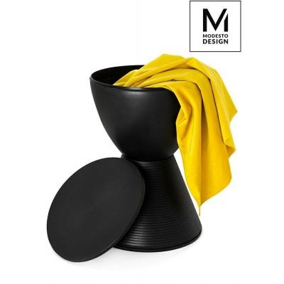 Modesto Design MODESTO stołek TAMBURO czarny - polipropylen PP612.BLACK
