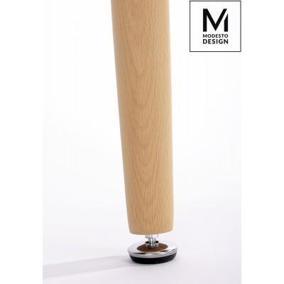 Modesto Design MODESTO stół HIDE SQUARE biały - blat MDF,  podstawa drewniana X002B.MDF