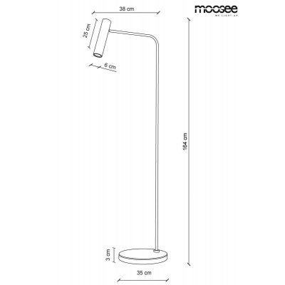 Moosee MOOSEE lampa podłogowa LUPE FLOOR - złota MSE010200147