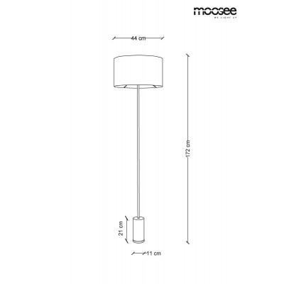 Moosee MOOSEE lampa podłogowa SANTORINI - złota podstawa, czarny klosz MSE010200131