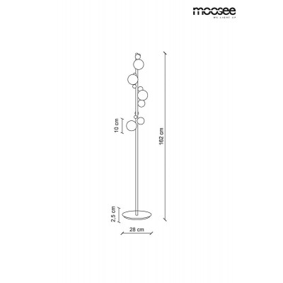 Moosee MOOSEE lampa podłogowa VALENTINO FLOOR - złota MSE010200140