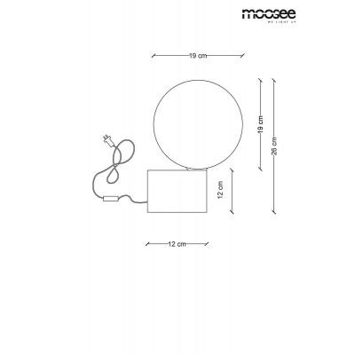Moosee MOOSEE lampa stołowa PARLA - złota podstawa, biały klosz MSE010300141