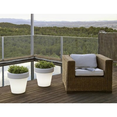 New Garden NEW GARDEN donica MAGNOLIA 60 C biała - LED LUMMG060OFNW