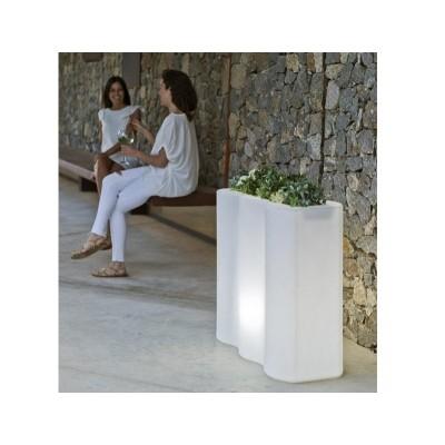 New Garden NEW GARDEN donica PALMERA C biała - LED LUMPA080OFNW