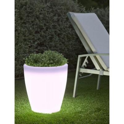 New Garden NEW GARDEN donica VIOLETA 55 C biała - LED LUMVL050FNW