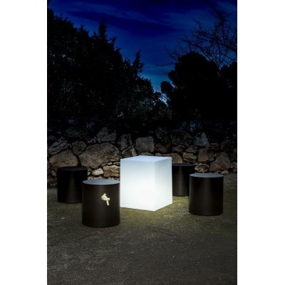 New Garden NEW GARDEN lampa ogrodowa CUBY 45 SOLAR biała - LED, sterowanie pilotem LUMCB045SSNW