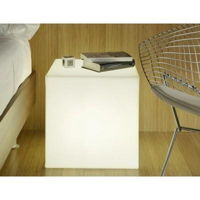 New Garden NEW GARDEN lampa ogrodowa CUBY 53 SOLAR biała - LED, sterowanie pilotem LUMCB053SSNW