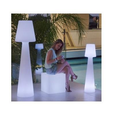 New Garden NEW GARDEN lampa podłogowa LOLA 110 biała - LED, wbudowana bateria LUMLL110WLNW