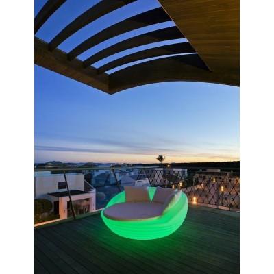 New Garden NEW GARDEN sofa FORMENTERA SOLAR biała - LED, sterowanie pilotem MOBFR160SSNW