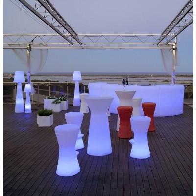 New Garden NEW GARDEN stolik barowy CAPRI 110 SOLAR biały - LED, sterowanie pilotem MOBCP110SSNW