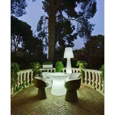 New Garden NEW GARDEN stolik CAPRI 40 SOLAR biały - LED, sterowanie pilotem MOBCP040SSNW