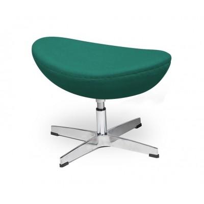 King Home Podnóżek EGG CLASSIC szmaragdowy zielony.41 - wełna, podstawa aluminiowa JH-027.SZMARAGD.41