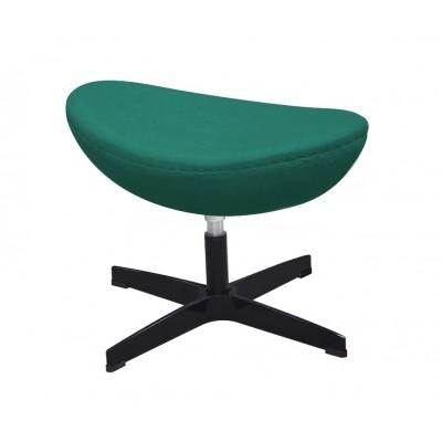 King Home Podnóżek EGG CLASSIC BLACK szmaragdowy zielony.41 - wełna, podstawa czarna JH-027.SZMARAGD.41.B