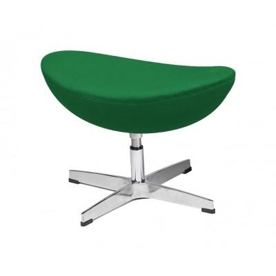 King Home Podnóżek EGG CLASSIC zielony.75 - wełna, podstawa aluminiowa JH-027.75