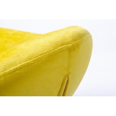 King Home Podnóżek EGG SZEROKI VELVET BLACK żółty.20 - welur, podstawa czarna HE-066.HM8.20.OTTO.B