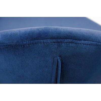 King Home Podnóżek EGG SZEROKI VELVET ciemny niebieski.49 - welur, podstawa stal HE-066.HM8-49.OTTO