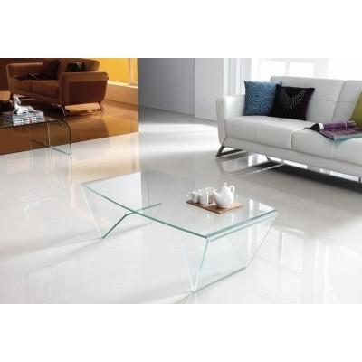 King Home Stolik szklany MANOR transparentny - szkło CB-314C