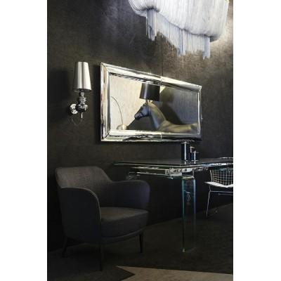 King Home Stół szklany ATLANTIS CLEAR 160/240 - rozkładany, szkło transparentne DT8180.CLEAR.1.6/2.4