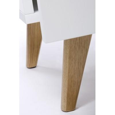 King Home Szafka PURE biała - szuflada, wykończenie dębowe 9968