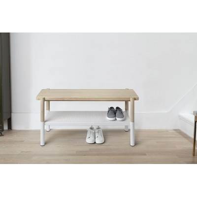 Umbra UMBRA ławka PROMENADE biała - drewno, metal 320800-668