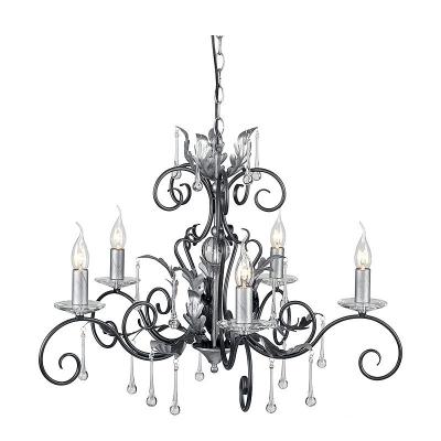 Elstead Lighting Pięcioramienny Żyrandol Amarilli, Czarno-Srebrny