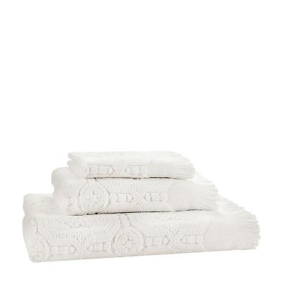 Ręczniki Claire w Kolorze Złamanej Bieli Design De Vivre