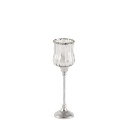 świecznik z postarzanego szkła Azura, Średni Design De Vivre