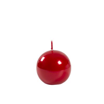 Świeca Metaliczna Czerwona Kula, Mała