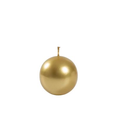 Świeca Metaliczna Złota Kula, Mała