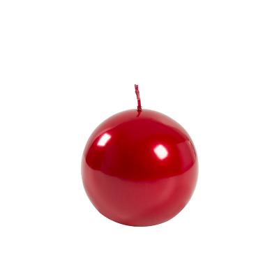 Świeca Metaliczna Czerwona Kula, Średnia