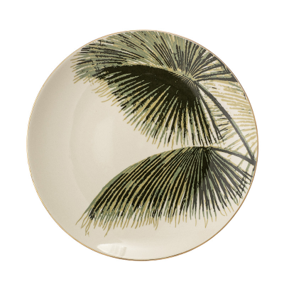 Talerz Aruba, Zielony, Ø 20 cm Design De Vivre