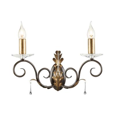 Elstead Lighting Podwójny Kinkiet Amarilli, Brązowo-Złoty