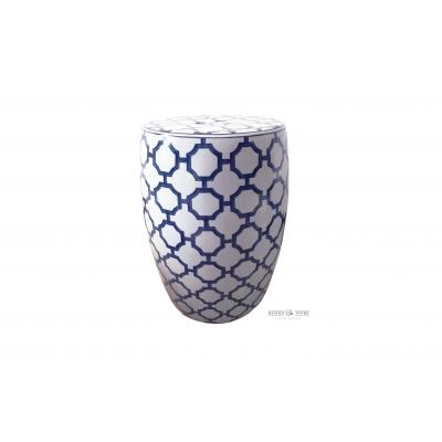 Niebiesko Biały Stolik z Marokańskim Motywem