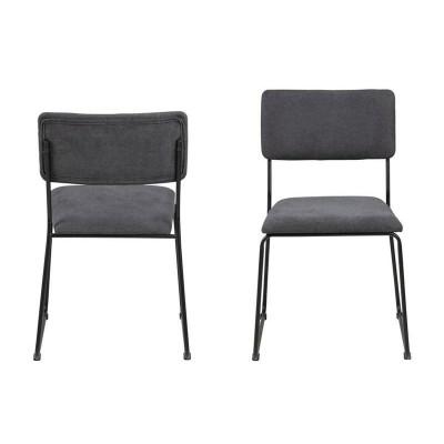 Actona ACTONA krzesło CORNELIA antracytowe - welur, metal 0000080649