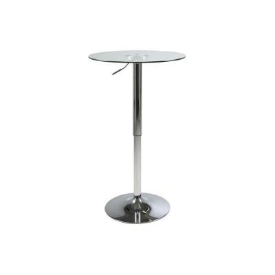 Actona ACTONA stolik barowy NIDO GLASS - regulacja wysokości, szkło, chrom 0000054705