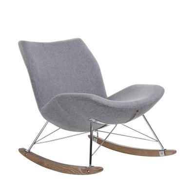 Fotel bujany SWING ciemny szary - tkanina, stal, drewno dębowe HE325B.732S-20.DGREY