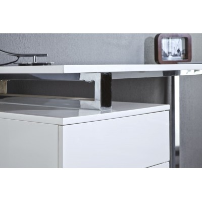 Invicta Interior INVICTA biurko COMPACT białe - MDF, chrom BT24WE/ZY3-1