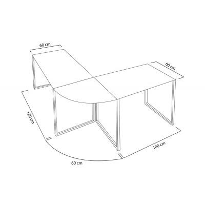 Invicta Interior INVICTA biurko narożne BIG DEAL czarne - szkło, metal chromowany BT23SW/FN2-1