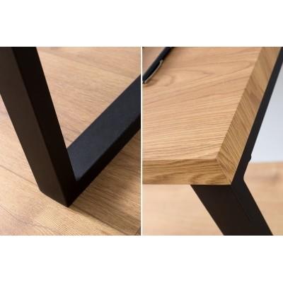 Invicta Interior INVICTA biurko OAK 128 dąb - fornirowany MDF, nogi metalowe BT31WEEI/IA1-1