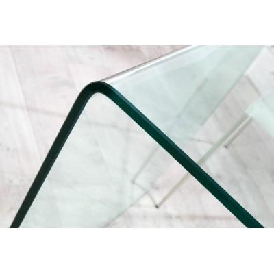 Invicta Interior INVICTA biurko szklane FANTOME  transparentne - szkło 20 mm. ET194GLKL/FX1-1