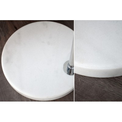 Invicta Interior INVICTA Lampa podłogowa SLACK biała - 185-205 cm SL361WE/PLV3-1