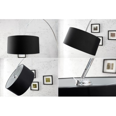 Invicta Interior INVICTA Lampa podłogowa SLACK czarna - marmur, metal SL381SW/BLT3-1