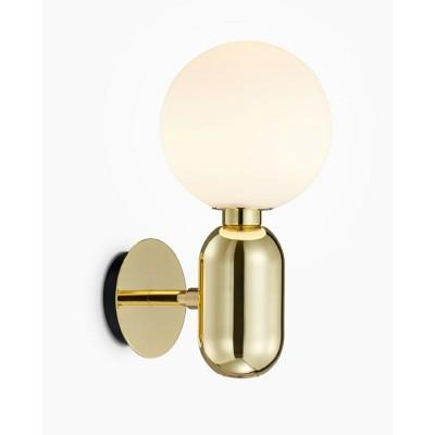 King Home Kinkiet BOY Fi 14 złoty - LED, szkło, metal MB10560-1-140.GOLD