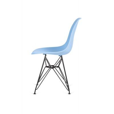 King Home Krzesło DSR BLACK jasny niebieski.12 - podstawa metalowa czarna K-130.L.BLUE.12.DSRB