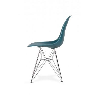 King Home Krzesło DSR SILVER marynarski niebieski .23 - podstawa metalowa chromowana K-130.NV.GR.23.DSR