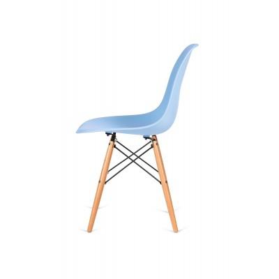 King Home Krzesło DSW WOOD jasny niebieski.12 - podstawa drewniana bukowa K-130.L.BLUE.12.DSW
