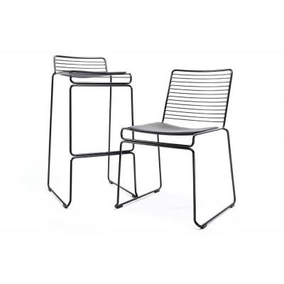 King Home Krzesło ROD SOFT czarne - czarna poduszka, metal MC-134