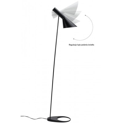 King Home Lampa podłogowa FONO czarna - aluminium XCF3306