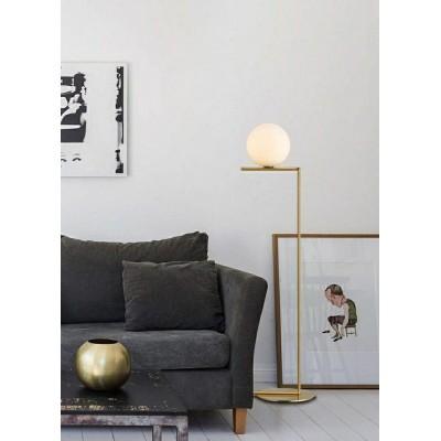 King Home Lampa podłogowa HALM FLOOR - mosiądz, szkło ML10563-1-300T